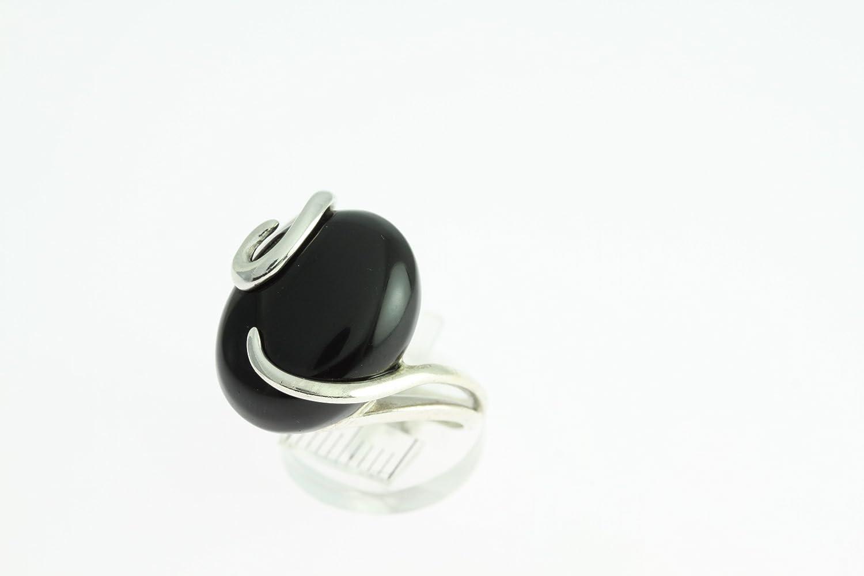 Anello con Onice nero 58-04 - Gioiello in con Onice nero - Tutte le dimensioni  e varie pietre - ARTIPOL: Artipol France: Amazon.it: Gioielli