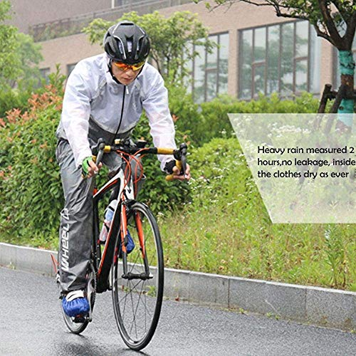 Bicicleta Black Montaña Al Lluvia Impermeable De Chic Impermeable Aire Bicicleta Impermeable Hombre Traje Coat De Reflectante Chaqueta Abrigo Conjuntamente Mieuid Libre Motocicleta Satety Señoras Impermeable Faw1S4Zxq