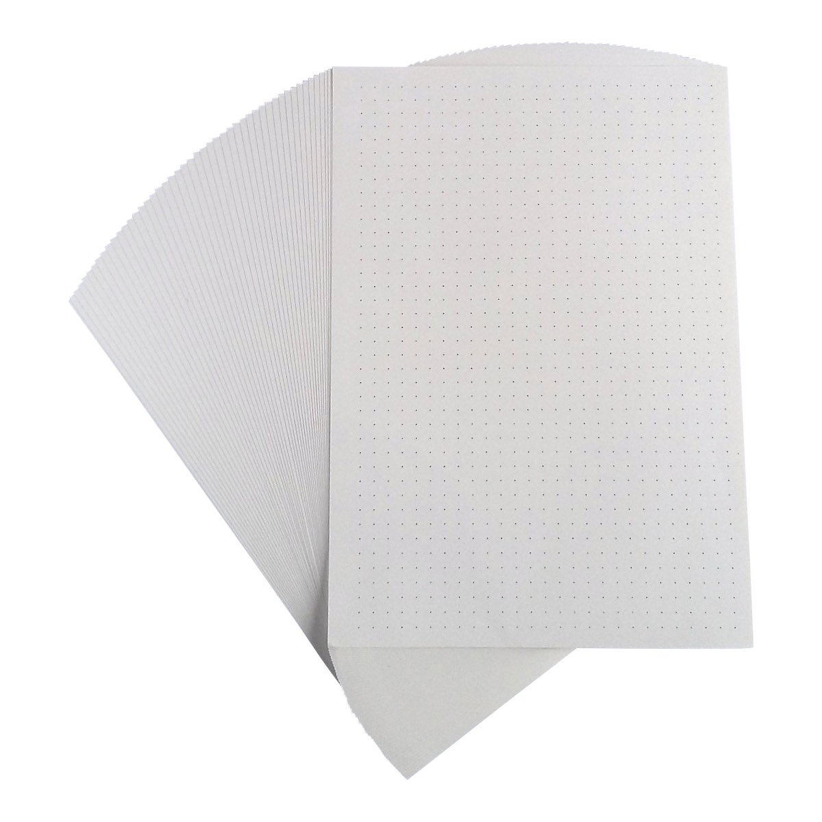 A5 Dot Grid Loose Leaf Filler Paper For Ring Binder Notebook Planner Inserts Filofax, Carpe Diem, Kikki K - Unpunched Refills, 50 Sheets x 4 Packs, 200 Sheets, 400 Pages, 100gsm, Ivory by Unpunched Refills (Image #3)