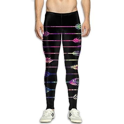 GGJHYFDF Men's Neon Style Compression Tight Pants Base Layer Running Leggings