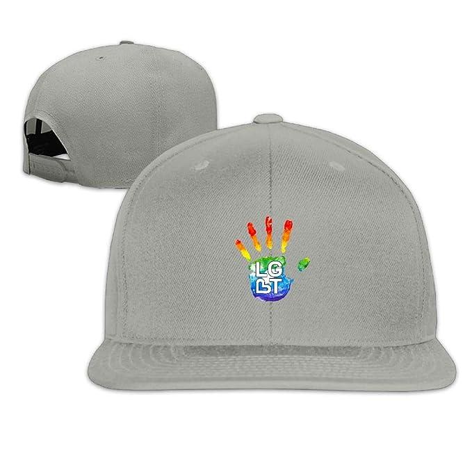 dad99be1 Nordic Runes LGBT Funny Snapback Hats for Men Flat Bill Baseball Cap for  Women at Amazon Men's Clothing store: