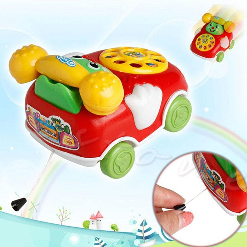 Dongba Baby Toys 2in 1 Cartoon Car Phone for Kids Educational Developmental Toys