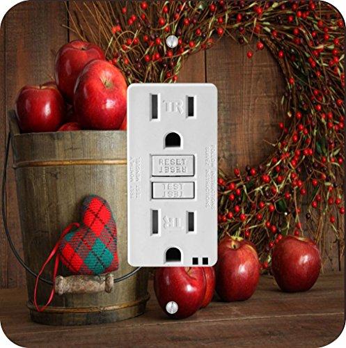 Rikki Knight Autumn Apples in Wood Bucket Single GFI Light Switch Plate from Rikki Knight