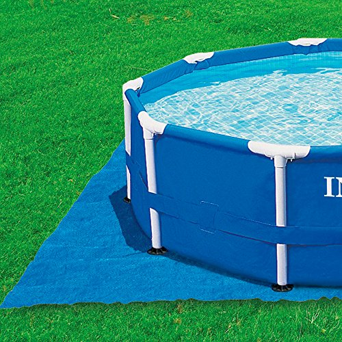 Intex pool ground cloth for 8ft to 15ft round above ground import it all for Round swimming pools above ground