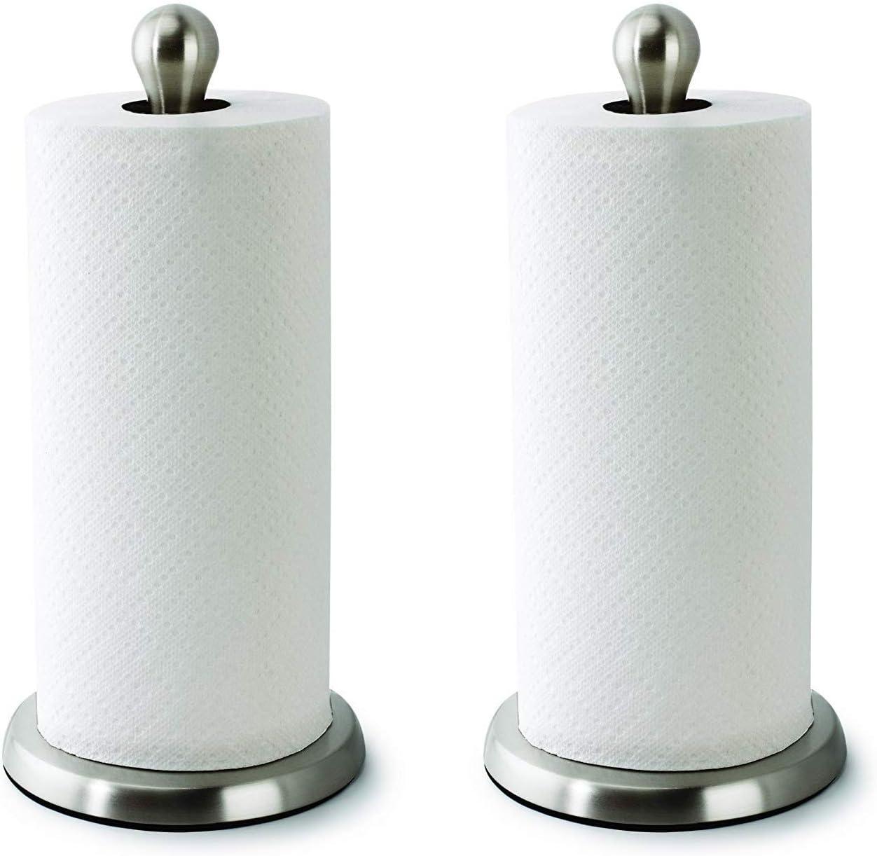 color blanco barra de toalla de madera SUNSKYOO Soporte de papel montado en la pared dispensador de metal autoadhesivo para rollo de cocina