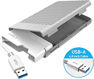 ineo USB 3.0 Tool-Free External Hard Drive Enclosure for 2.5 inch 9.5mm & 7mm SATA HDD SSD with UASP Supported and Screwless (USB 3.0 Type A) [T2578]