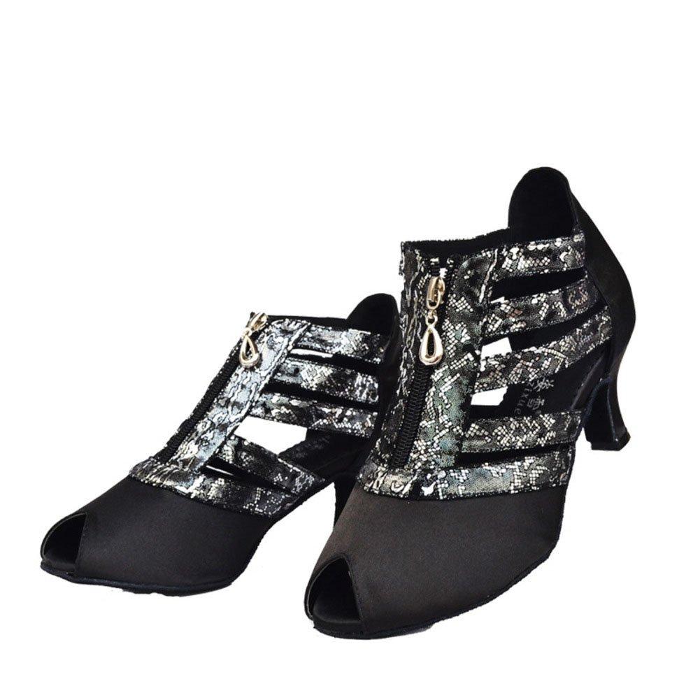 QWERTYUIOP Frauen Latein Tanzschuhe Leise Unten Heels Heels Heels Tanzen Ballroom Dance Schuhe e8d40f