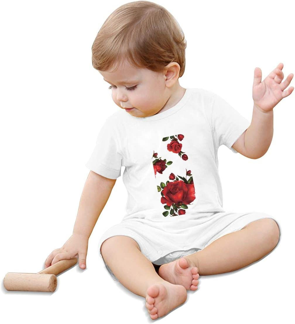 Baby Bodysuit Jumpsuit Beautiful Red Rose Pajamas One-Piece Rompers