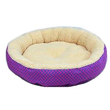 LAMEIDA Cama para Mascotas Impermeable Cama para Mascotas Cama para Mascotas Lona para Perro Cuddler Cama para Perros Gruesas Donut Redondo con Patrón ...