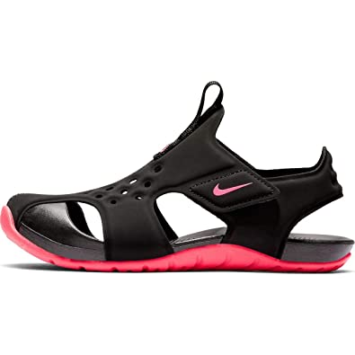 d49756dfda Nike Boy's Sunray Protect 2 (PS) Pre School Sandal Black/Racer Pink Size