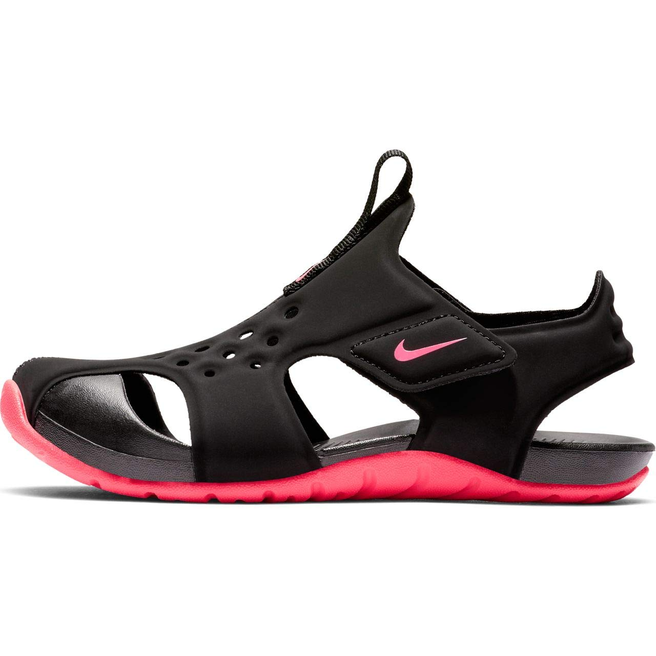 Nike Boy's Sunray Protect 2 (PS) Pre School Sandal Black/Racer Pink Size 13 Kids US