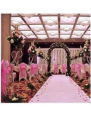 Abaobao 48cm * 10m Sheer Organza de Cristal de Tul Rollo de Tela para Boda Fiesta decoración o año decoración navideña DIY Tela de Organza Boda Mesa Fiesta Decor Escalera Bow Cama Mesa Falda