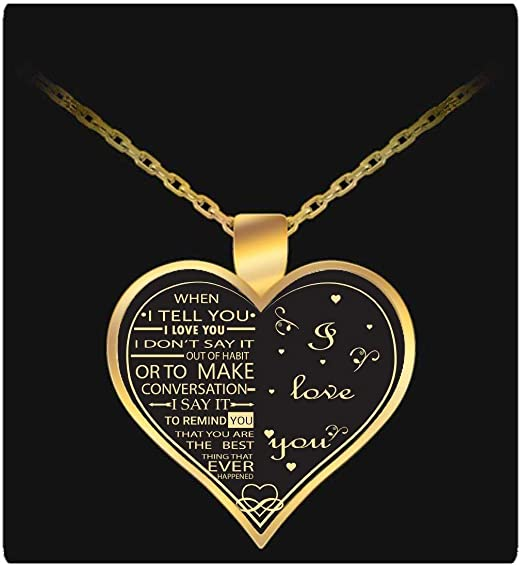 Necklace to My Wife-Unique Birthday Gifts idea for Your Wife Silver//Gold Pendant Necklace