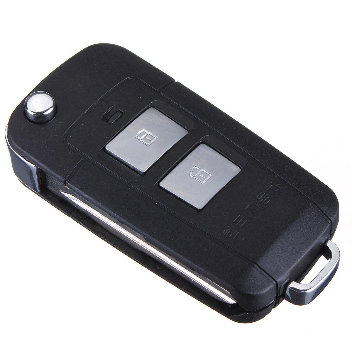 2013/pour Panique katur 1/bouton 2//Étui /à rabat Coque cl/é t/él/écommande pour Hyundai Tucson//IX35/2005