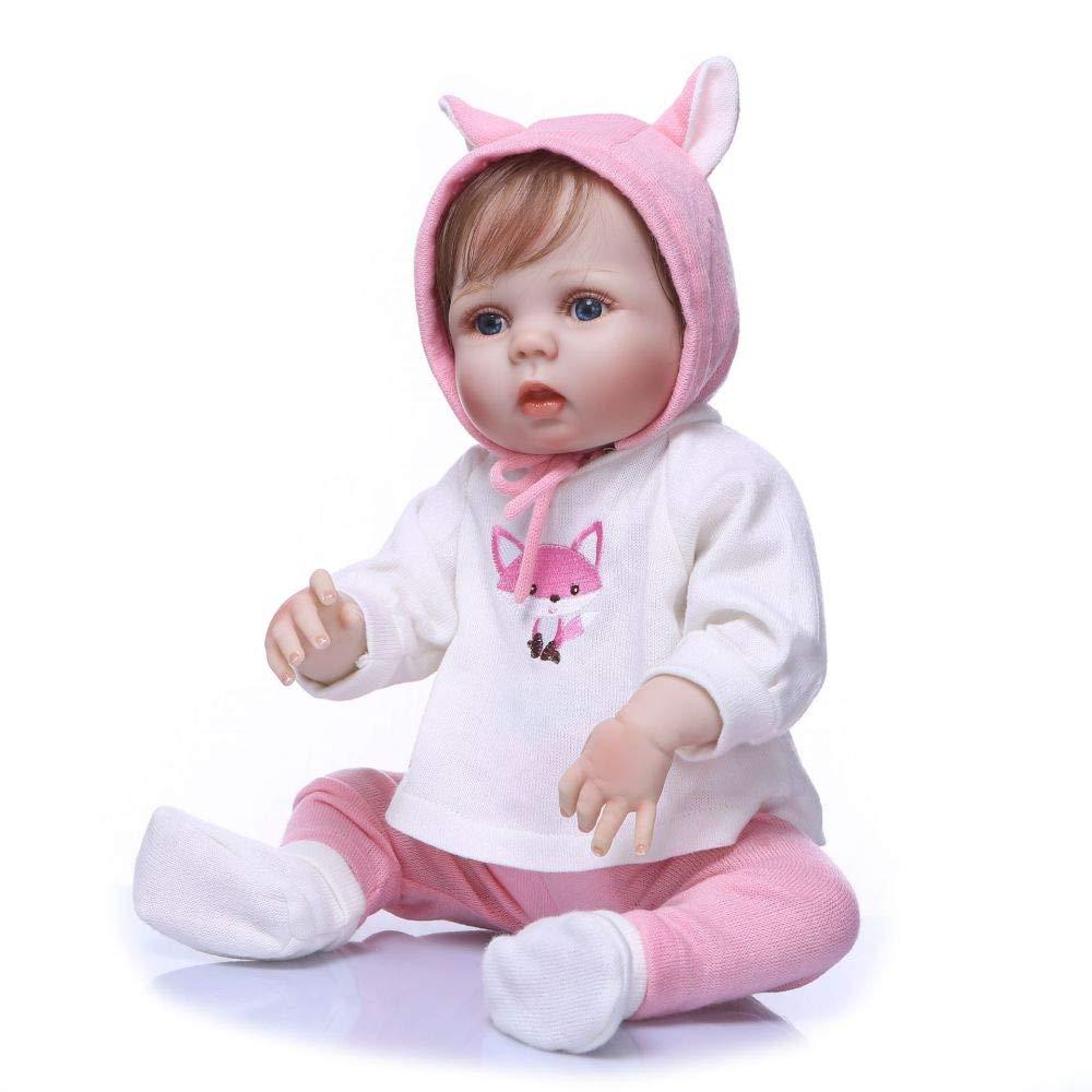 nuevo estilo ZBYY Muñecas Muñecas Muñecas Vinilo De Silicona Suave Lifelike Bebé Reborn Baby Dolls Recién De Juguete 22 Pulgadas 56cm  venta con descuento