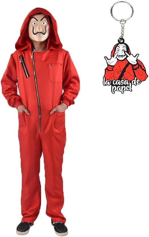 La Casa De Papel Disfraz Red Overol Dali Mono para Disfraz de Halloween,Tamaño M: Amazon.es: Juguetes y juegos
