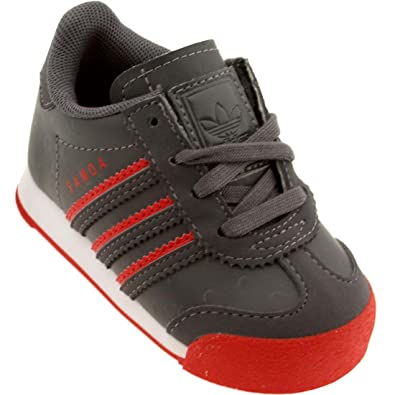 Adidas Toddlers Samoa (Red/Granite/Ftwwht)-6.0
