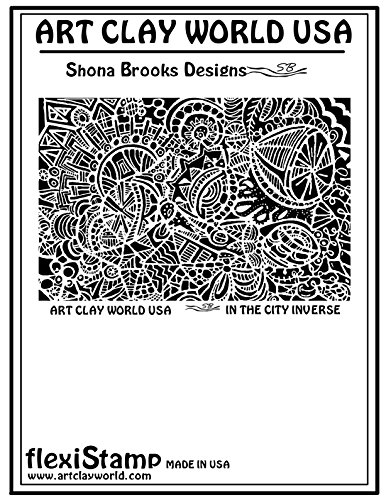 FlexiStamps Texture Sheet Shona Brooks In the City Inverse Design - 1 pc. by FlexiStamp