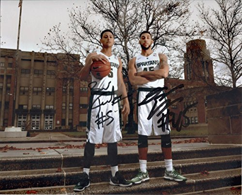 denzel-valentine-bryn-forbes-autographed-11x14-photo