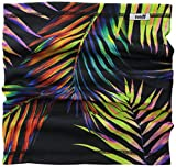 neff Men's Stretchy Neck Thing Gaitor, Neon Palms, One Size