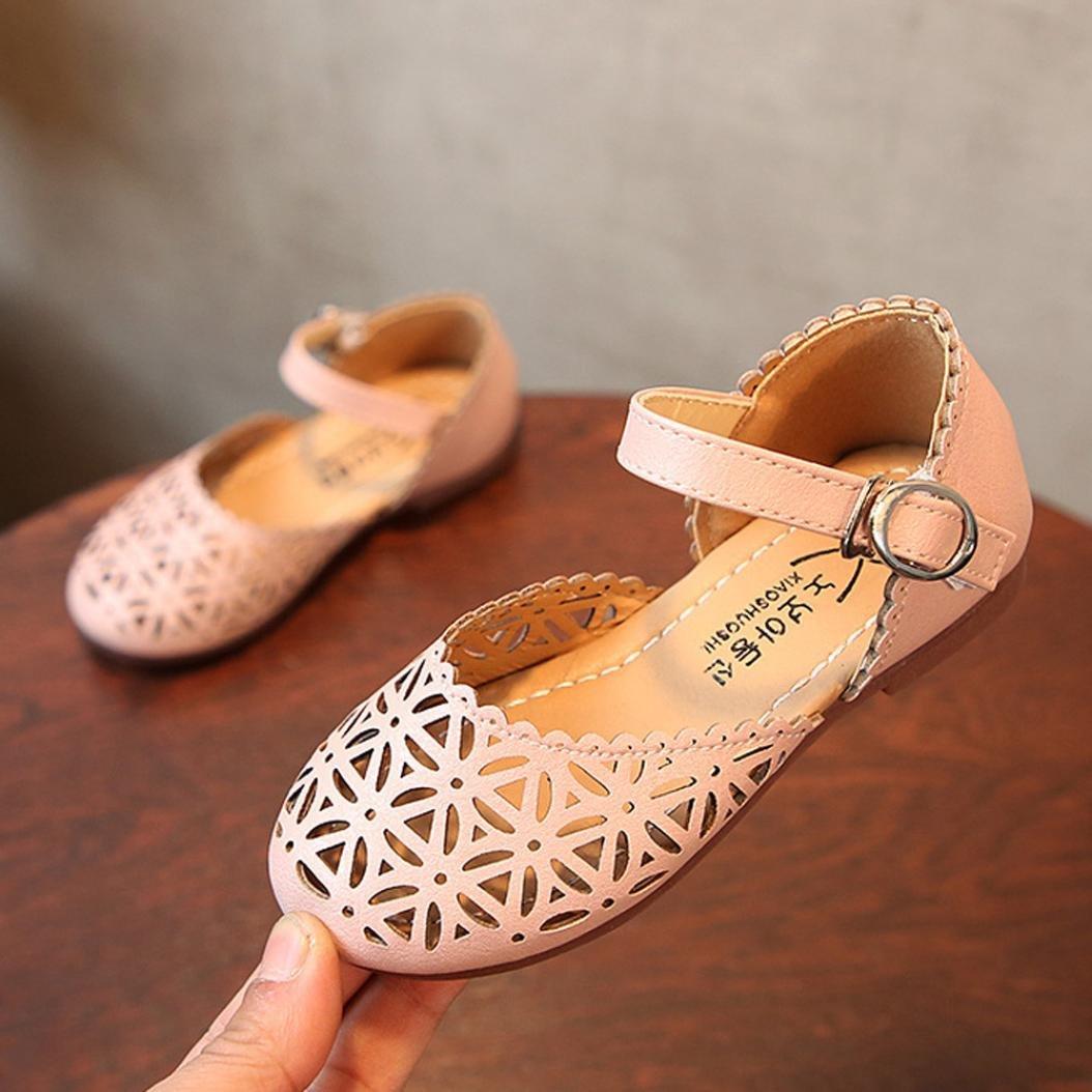 Sunbona Infant Little Girls Sandals Princess Dance Ballet Flats Mary Jane Slip On Ballerina Loafer Shoes