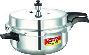 Prestige 10706 Deluxe Plus Induction Base Senior Deep Pressure Pan, 6 Litres
