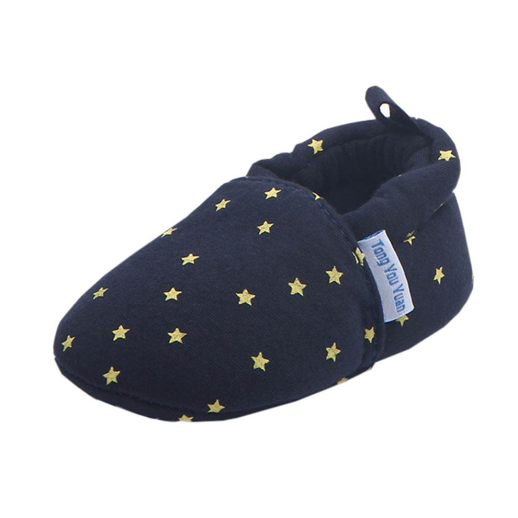 VENMO Newborn Infant Baby Star Print Slippers Socks Anti-slip Soft Sole Toddler Crib Shoes Sneakers For 6-12 Months Infant