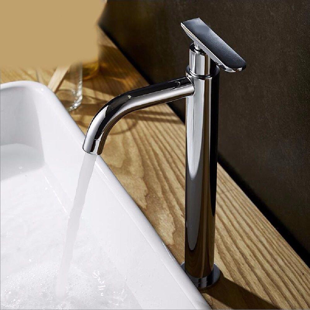 LHbox Bad Armatur in Bad für Waschbecken Waschtisch Wasserhahn Waschtischarmatur Die Höhen kalten Becken Armaturen waschen Sie Ihr Gesicht waschen