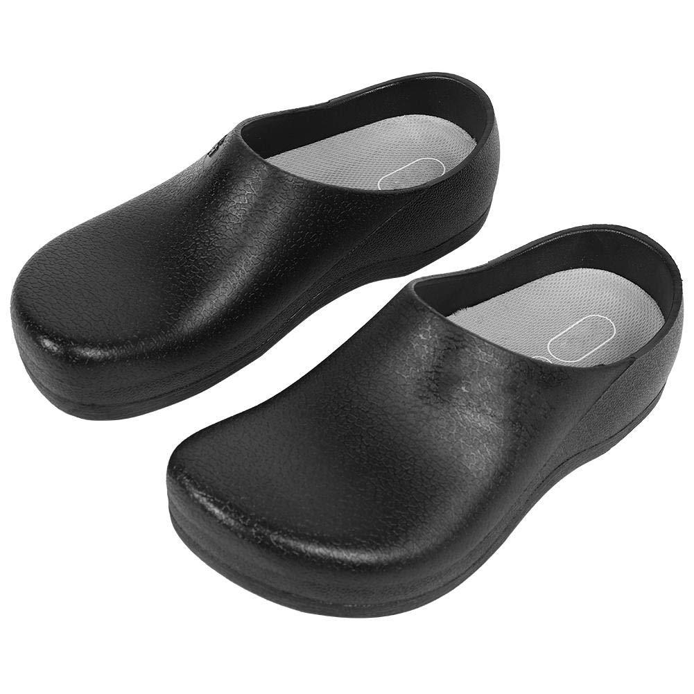 Antideslizantes para Cocina 1 Color Negro Zapatillas de Chef para Hombre TOPINCN