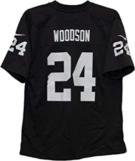 cf850a26a Amazon.com  Unsigned Charles Woodson Oakland Black Custom Stitched ...