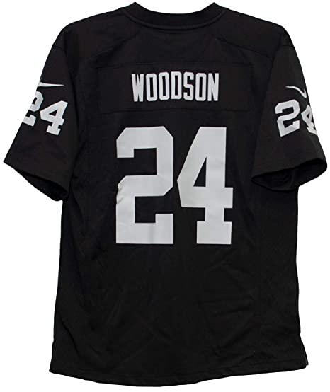 2fcb2a1e99d Nike Charles Woodson Oakland Raiders Team Color Youth Game Jersey (Medium  10-12)