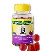 Vitamin B Complex Gummies for Adults with Vitamin B6, B12, C, Biotin, Niacin, Folic...