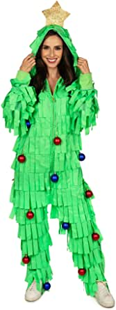 Tipsy Elves' Women's Tree Time Jumpsuit - Funny Green Holiday Onesie
