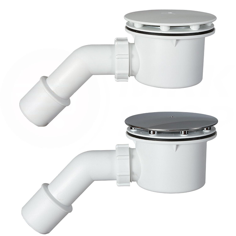 Ø90mm Siphon Dusche Duschwanne Abfluss Aquabad® TRAPFLEX Ablaufgarnitur Set