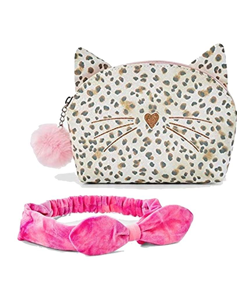 Justice Cat Case Pouch Bag Head Wrap Headband Pink
