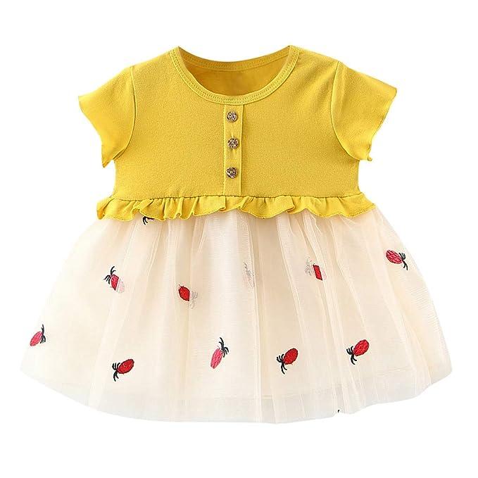 Berimaterry Vestido de niña, Vestido para Bebés Ropa Impresa de ...