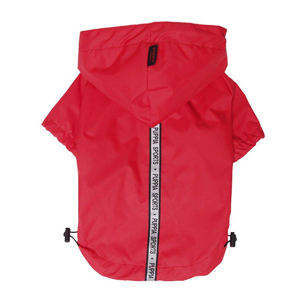 Large Puppia Authentic Base Jumper Raincoat, Large, Red