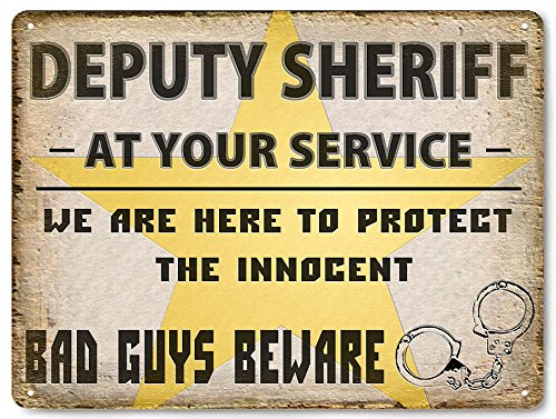 Deputy Sheriff Police metal sign male or female cop law badge GREAT GIFT vintage style Wall Decor -
