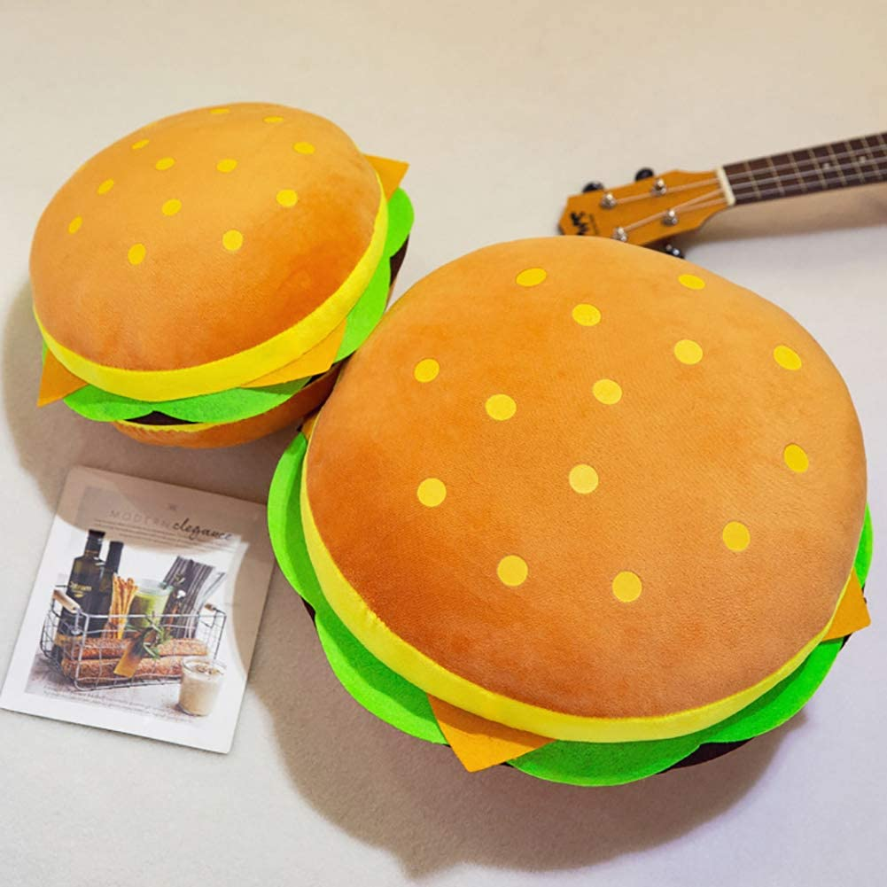 xinYxzR Simulation Hamburger Plush Stuffed Throw Pillow Back Cushion Sofa Bed Decor 40cm