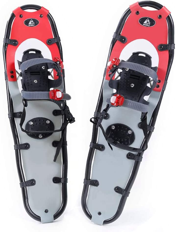Hewolf Snow Shoes with Adjustable Ratchet Bindings for Women Men 24 inch/30 inch/36 inch