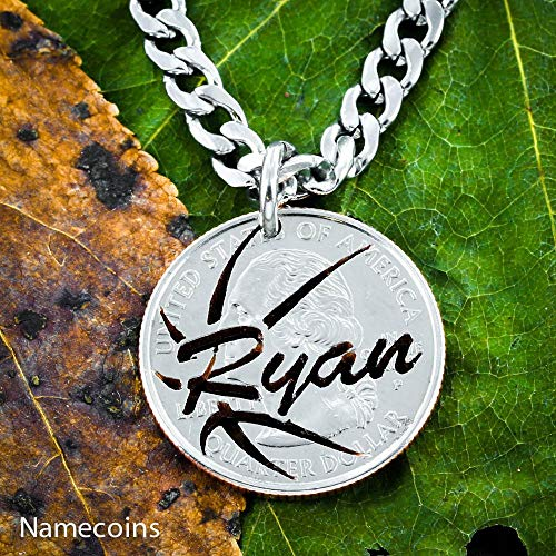 Basketball Necklace with Custom Name, Personalized Jewelry, By NameCoins