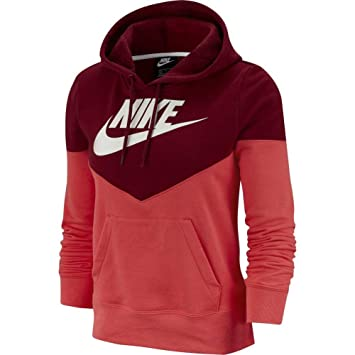 Femme Nsw Sweat Shirt Glowteam W Red Ember Hrtg Flc Hoodie Nike vOmnwN08