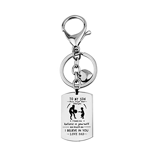 Amazon wusuaned son dog tag necklace son gifts from father play amazon wusuaned son dog tag necklace son gifts from father play basketball necklace keychain dad son basketball keychain jewelry solutioingenieria Choice Image