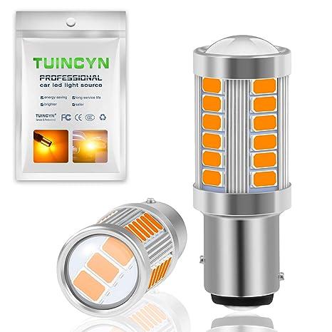 Tuincyn BAY15D, 1016, 1034, 1157, 1157A Bombillas LED 5630 33SMD, ambra