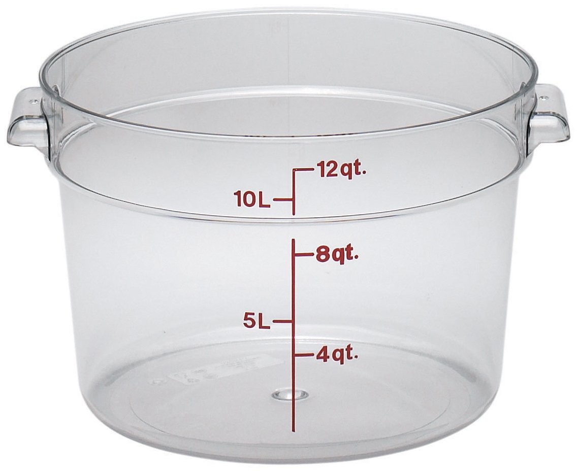 Cambro RFSCW12135 Round Storage Container, 12 quart, Clear by Cambro