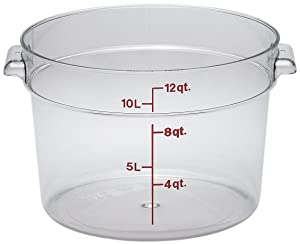 Cambro RFSCW12135 Round Storage Container, 12 quart, Clear