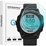 (4 Pack) Orzero Compatible for Garmin Fenix 6X Pro, 6X Pro Solar Smartwatch Tempered Glass Screen Protector, 2.5D Arc…