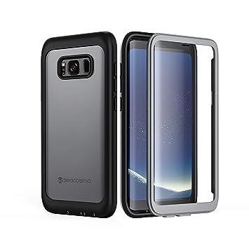 seacosmo Funda Samsung S8, Transparente Carcasa 360 Grados Ultra Ligero PC Protectora Estuche con Protector de Pantalla Absorción de Choque Resistente ...