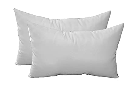 Amazon Com Set Of 2 Throw Pillows Solid Ivory Cream Indoor