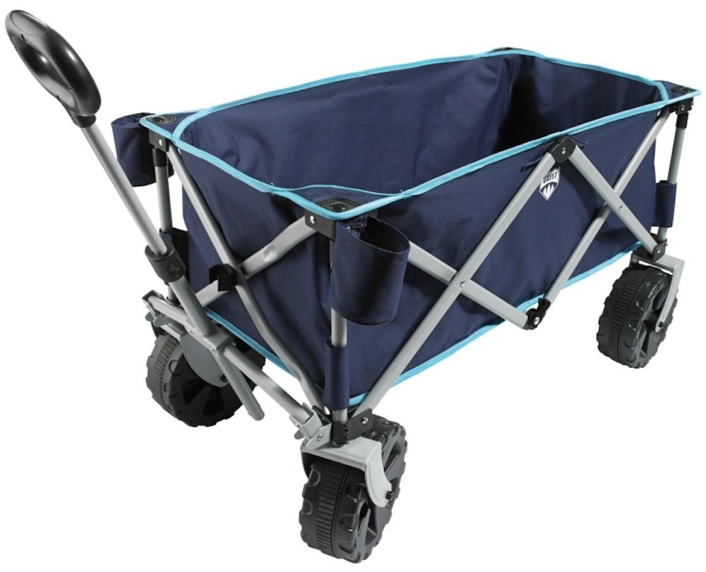 Folding Utility Beach Wagon - Multicolors (Navy/Light Blue) by Quest